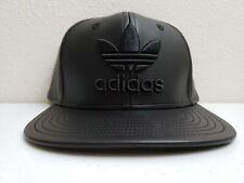 Adidas Faux Leather Trefoil Black Hat Snapback Adjustable B94098