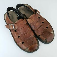 Mens Beaver Creek Leather Fisherman Sandals Size 12 M Slip Ons