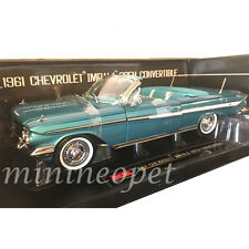 SUN STAR 3407 1961 CHEVROLET IMPALA OPEN CONVERTIBLE 1/18 TWILIGHT TURQUOISE