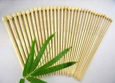 """14 Pairs 34cm Long Bamboo Knitting Needles 2mm to 7.5mm single Pointed Set  12"""""""