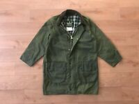 Barbour Men's Gamefair Green Waxed Coat Jacket C36/91CM Vintage Casual
