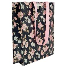 French Rose Shoulder Shopping Tote Bag Strong Plastic Eco-Friendly Ladies Women
