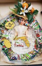 "Vintage PATTI ORIGINALS Miami, Florida Souvenir  Doll 9"" with Box"