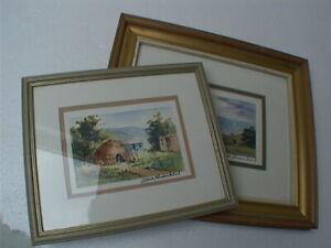 2 x Lorna Panzenbock paintings. South African art, Drakensberg Amphitheatre, A1'