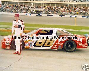 BUDDY BAKER #88 RED BARON 1988 DAYTONA 500 AUTO RACING NASCAR 8X10 PHOTO