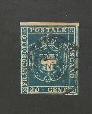 Tuscany #20a FVF USED - 1860 20c Coat Of Arms - SCV $275.00