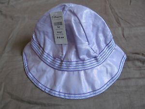 NEW DISNEY STORE BABY GIRL'S LAVENDER PURPLE MINNIE MOUSE SUN HAT 0-6 MONTHS