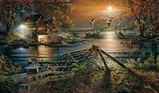 The Social Hour By Terry Redlin Signed and Numbered Cabin Lake Duck Print