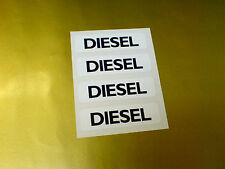 DIESEL Fuel Car Van Stickers Decals 4 off 50mm