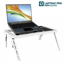 Laptoptisch Notebooktisch Betttisch, Beistelltisch faltbar m. Ventilator