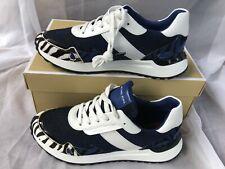 NIB Women Size 7M Michael Kors Monroe Trainer Sneakers Blue/Black/White