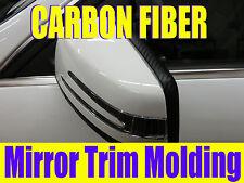 3D Black CARBON FIBER Side Mirror TRIM MOLDING DIY KIT -cfhyun02