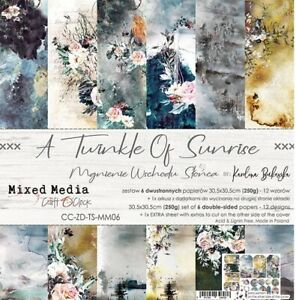 """12"""" x 12"""" scrapbooking paperpad cardstock A Twinkle of Sunrise 6 sheets 250gsm"""