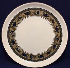"Mikasa Intaglio Arabella Round Serving Platter 14 3/8"" CAC01 Blue Green Rim"