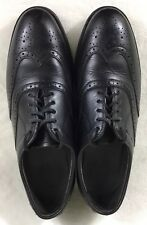 Iron Age Men's Oxford Steel Toe Safety Work Shoes Size 8.5M Leather Wing Tips
