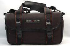 @ Ship in 24 Hours! @ Rare! @ Minolta Alpha System Black Fabric Camera Bag