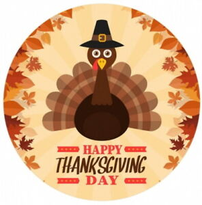 Happy Thanksgiving Turkey Enamel Fall 20mm Snap Charm For Ginger Snaps