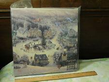 """Thomas Kinkade (2009) """"St. Nicolas Circle"""" [14''x14''] Wrapped Canvas w/ COA Ltd"""