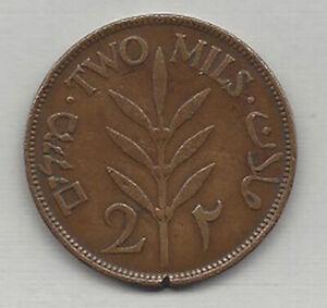 Palestine 1927 2 Mils coin (1917 1948) L@@k Excellent original condition - RARE