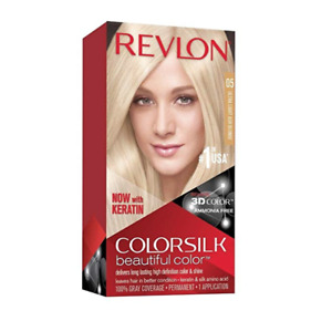 Revlon ColorSilk Beautiful Color, 05 Ultra Light Ash Blonde, Permanent Hair Dye