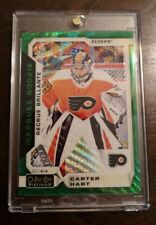 2018-19 O-Pee-Chee OPC Platinum Emerald Surge Marquee Rookie Carter Hart RC 1/10