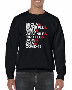 698 Pandemic Virus Strains Crew Sweatshirt H1N1 swine flu ebola new quarantine