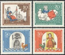 Germany (B) 1967 Birds/Children's Tales/Fairy Stories/Rooster 4v set  n28335