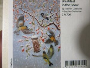 Wentworth wooden puzzle. 40 pieces. Breakfast in the Snow. Birds