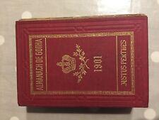 ALMANACH de Gotha 1901 Noblesse Genealogie Justus Perthes