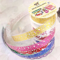 Lace Roll DIY Washi Decorative Sticky Ribbon Masking Tape Self Adhesive S&K