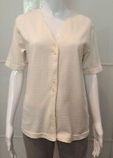 BALLOON CAMICIA T Shirt BLOUSE DONNA WOMAN Casual BIANCA 100% COTONE SIZE M