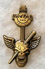 HARD ROCK CAFE PHOENIX 3D SKULL GUITAR WITH THERMOMETER THROUGH HEAD PIN # 42214