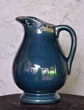 Krug Vase bauchig shabby style Deco Keramik Petrol craquele Brynxz