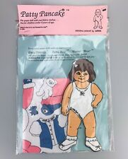 New ListingVtg 1990's New Patty Pancake by Anna Paper Doll with Real Cotton Fabric Clothes