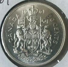 1961 Canada 50 Cents Half Dollar - Bright Uncirculated