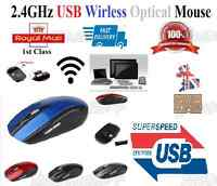 2.4GHz Wireless Cordless Optical Scroll Computer PC Mouse Foldable USB Dongle M4
