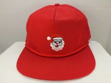 Santa Hat Santa Claus Christmas Snapback 90s Vintage Retro Cap Hat Xmas Hat NEW