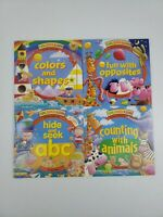 Lot Of 4 Turn, Search & Learn Turn The Wheel Educational Children's Books