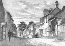 LONDON. Dagenham 1888 old antique vintage print picture