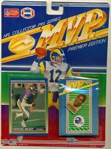 NFL-FOOTBALL-COLLECTOR PIN SERIES+TRADING CARD-HERSCHEL WALKER-MINNESOTA VIKINGS