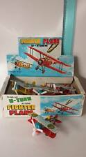 FIGHTER PLANE U-TURN DH-4 TIN VINTAGE TOYS AEREO IN LATTA