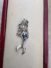 NEW STERLING SILVER & OPAL STONE NAUTICAL MERMAID PENDANT MARINE SEALIFE JEWELRY