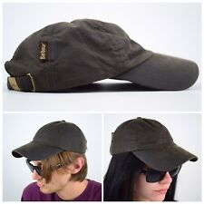 Men's BARBOUR Waxed Baseball Sport Sage Cap/Hat Wax Olive Size One