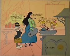 Chuck Jones Cel Bugs And Witch Hazel Truant Officer Cel Signed/#489/750 W/Coa