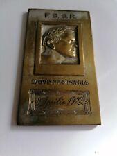 BEOGRADSKI (BELGRADE) - BUCURESTI (BUCHAREST), 9.APRIL.1922, FOOTBALL PLAQUE