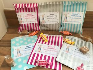 Personalised Peter Rabbit Sweet Bags Birthday Party Christening Favours