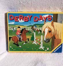 VTG 1994 Ravensburger Derby Days Horse Counting Board Game  Math Thinking Skills