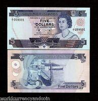 SOLOMON ISLANDS 5 DOLLARS P6 1977 QUEEN BOAT *A/1* PFX.UNC CURRENCY MONEY NOTE