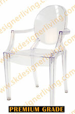 SKDL | Replica Louis Ghost Arm Dining Chair | Clear Transparent