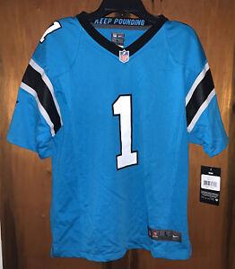 NWT Nike On Field NFL Carolina Panthers Cam Newton Jersey Size Youth Large
